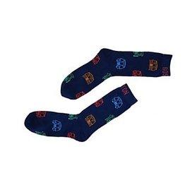 MBTA Train Pattern Socks - Indigo
