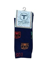 MBTA Train Pattern Socks - Indigo