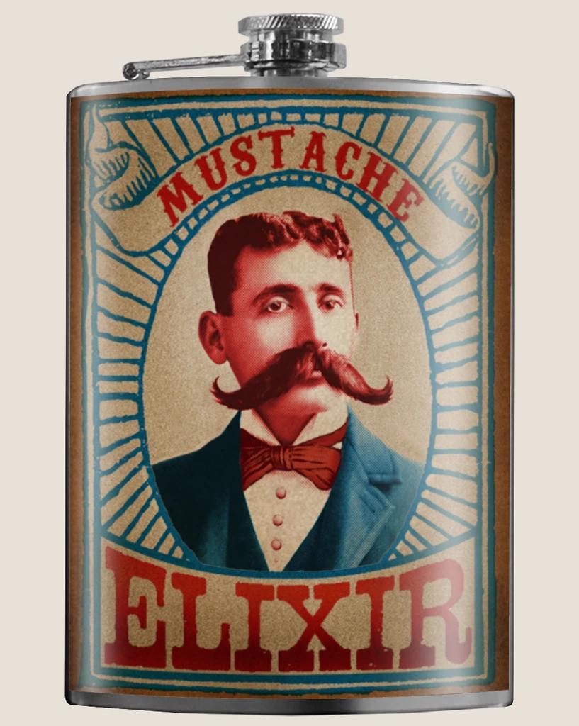 Trixie & Milo Mustache Flask
