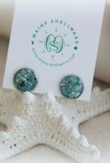 Maine Shellware Small Stud Earrings