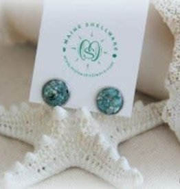 Maine Shellware Small Stud Earrings