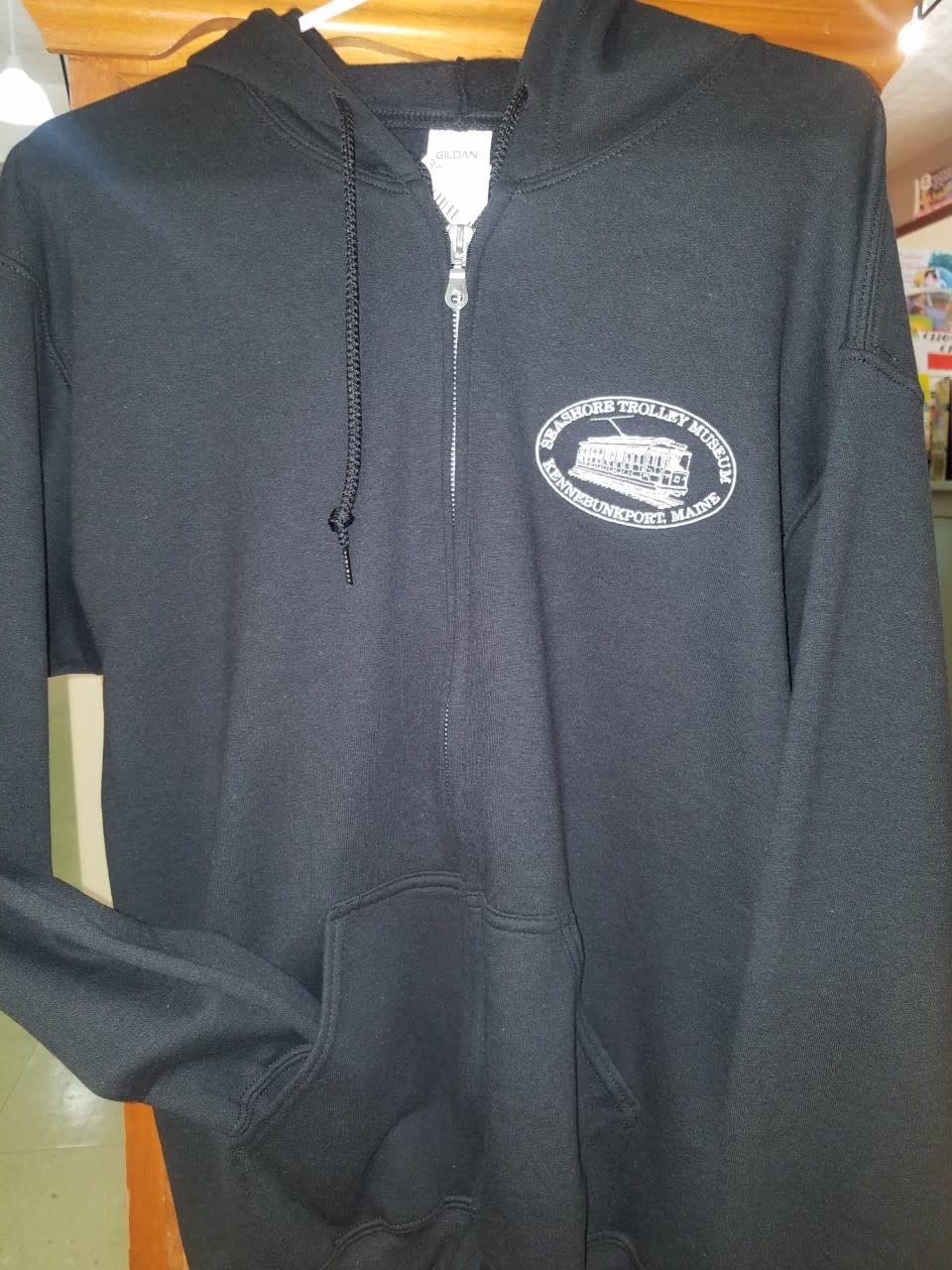STM Black Zip Hoodie - Embroidered Logo