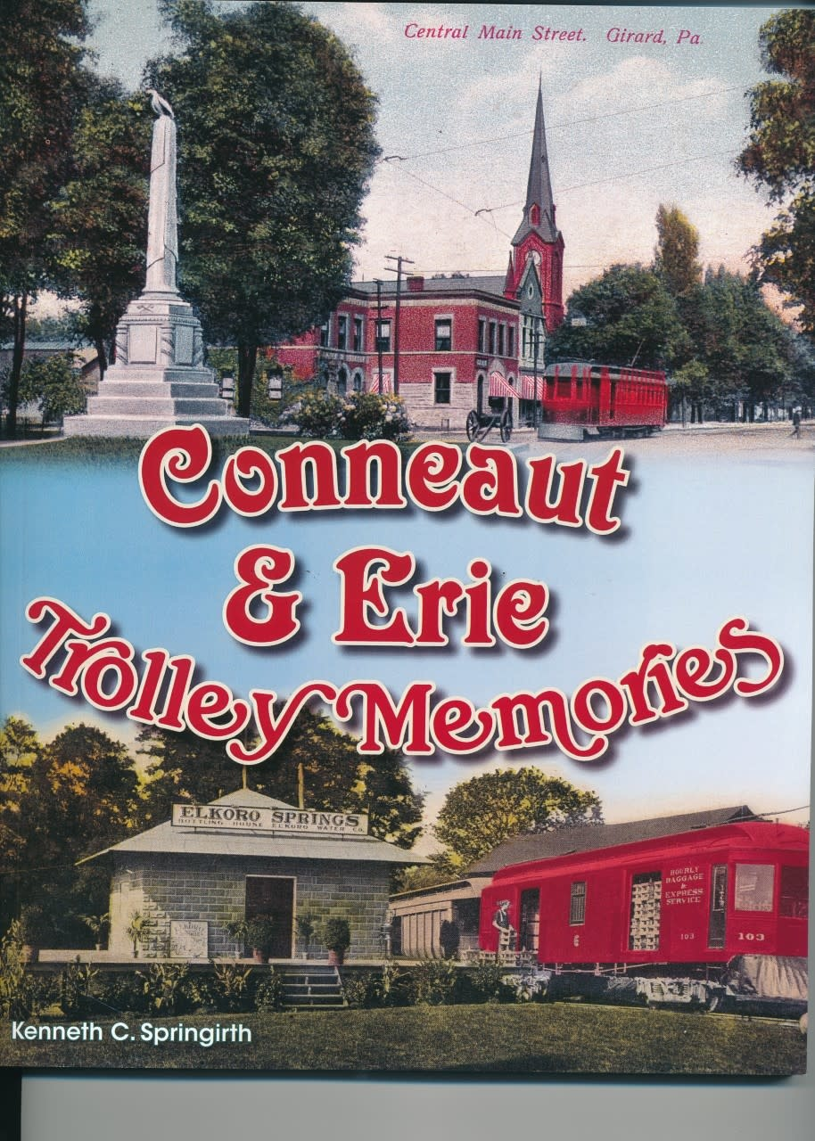 America Through Time Conneaut & Erie Trolley Memories *SIGNED