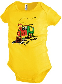 Let's Make Tracks Shirt / Makin' Tracks Onsie