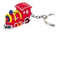 Red Train Key Chain