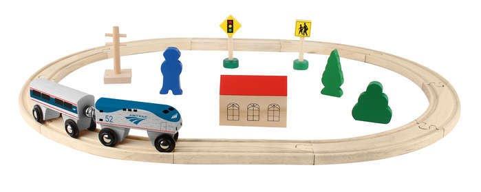 Amtrack 20 Piece Wooden Train Set