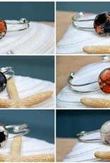Maine Shellware Silver Cuff Bracelet - Seashell