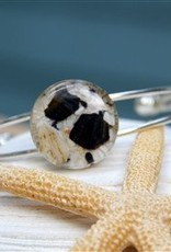 Silver Cuff Bracelet - Seashell