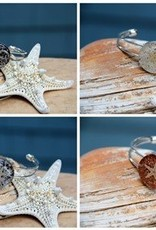 Starfish Adjustable Bracelet - Silver Cuff