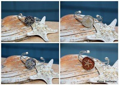 Maine Shellware Starfish Adjustable Bracelet - Silver Cuff