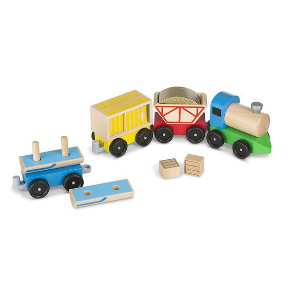 Melissa & Doug Classic Wooded Toy Cargo Train