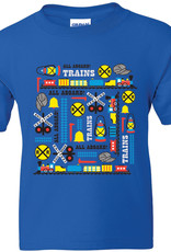 Charles Products Train Icons Youth T-Shirt