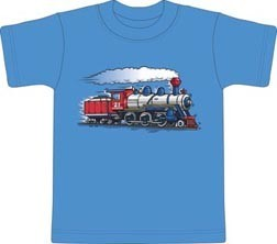 Steam Engine Youth Shirt ~ Pink or Blue