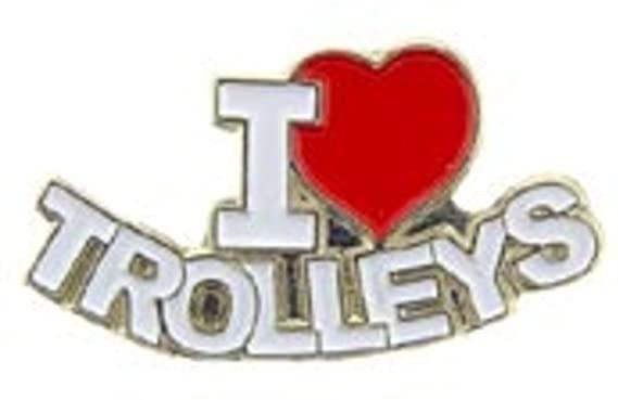 I Love Trolleys Pin