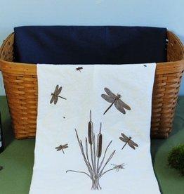 Tea Towel - Cat 9 Tails & Dragonflies