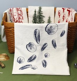 Tea Towel - Mussel Shells & Sand Dollars