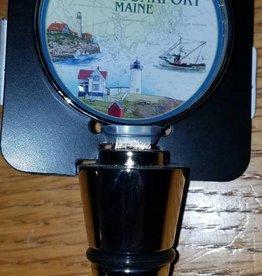 Lantern Press Kennebunkport Bottle Stopper - Nautical