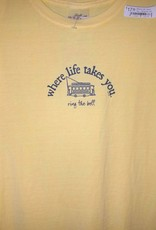 Where Life Takes You....Ring the Bell Men's & Ladies Tee Shirts 4 colors 5 sizes