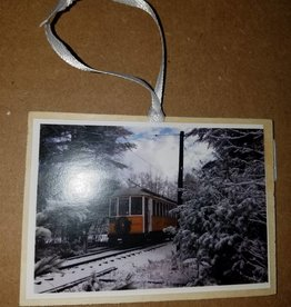 Wooden Ornament ~ Gift Tag Car 1160
