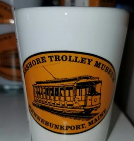 STM Logo 2 oz White Shot Glass