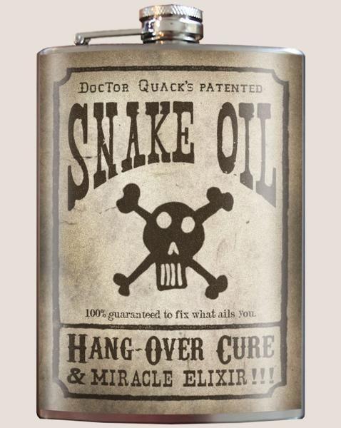 Trixie & Milo Snake Oil Flask