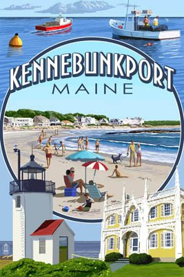 Custom Coaster Montage Scene Kennebunkport
