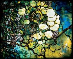 musw Tiffany Hand Mirror Snowball Window