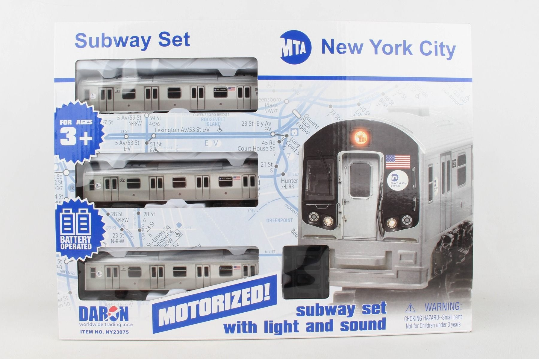 MTA Motorized NYC Subway Train Set w/ Track