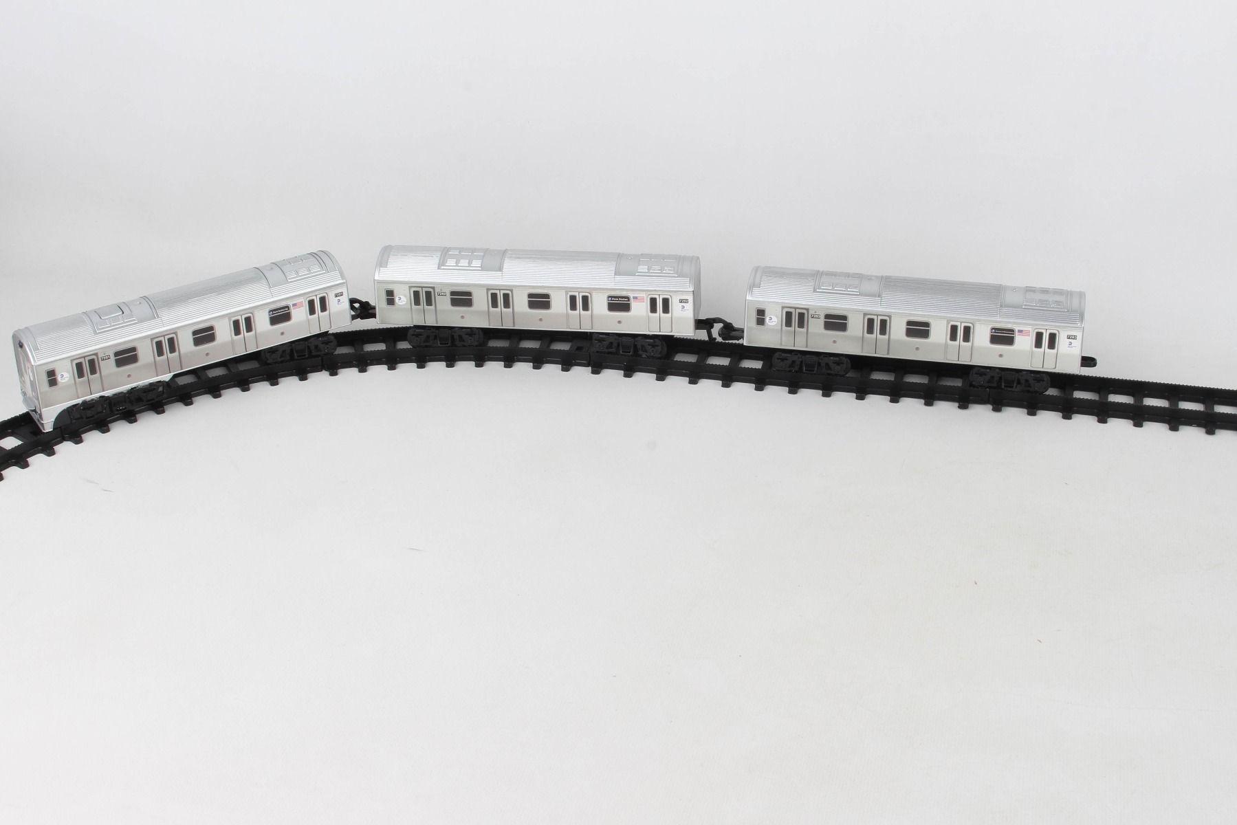 MTA Motorized NYC Subway Train Set w/ Track