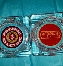 Classic Glass Rail Road Ashtrays
