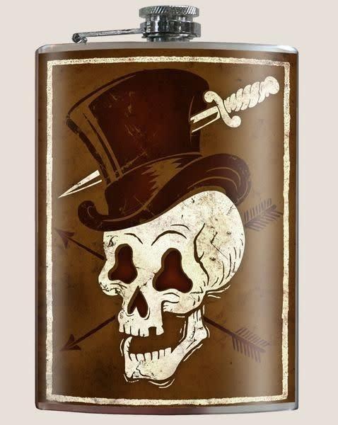 Trixie & Milo Skull Hat Flask
