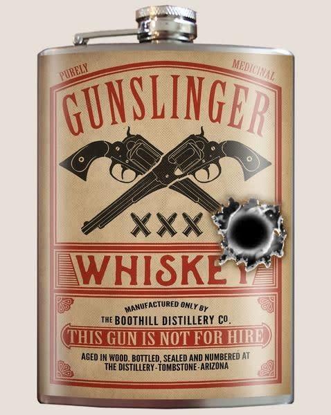 Trixie & Milo Gunslinger Whiskey Flask