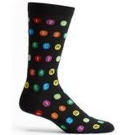 MTA Subway Route Symbols Mens Sock