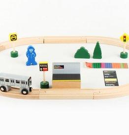 MTA Wooden Train Set