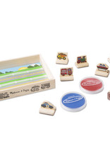Melissa & Doug My First Wooden Stamp Set - Vehicle