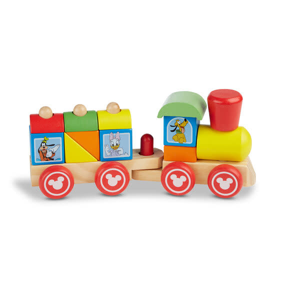 Melissa & Doug Mickey Mouse & Friends Wooden Stacking Train