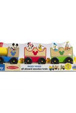 Melissa & Doug Disney Mickey Mouse & Friends All Aboard Wooden Train Set