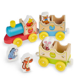 Melissa & Doug Disney Winnie-the-Pooh All Aboard Wooden Train Set