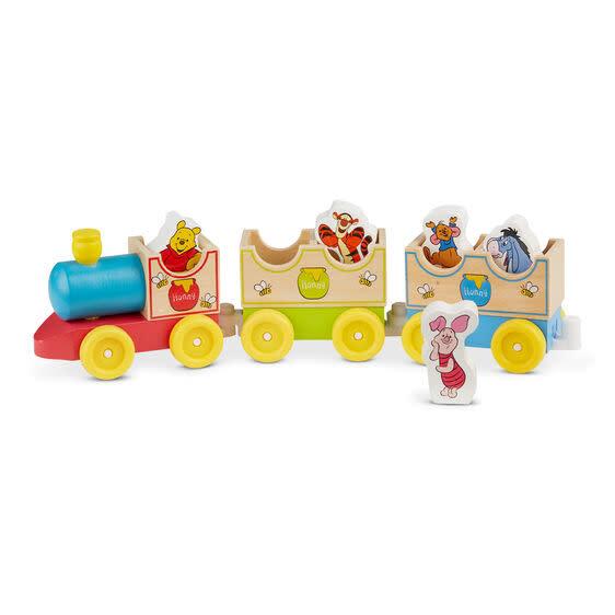 Melissa & Doug Disney Winnie-the-Pooh All Aboard Wooden Train Set