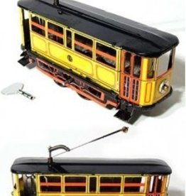 Tin Toy Arcade Yellow Electric Trolley Tin Toy