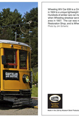 Museum Store Products Wheeling Car 639 Post Card