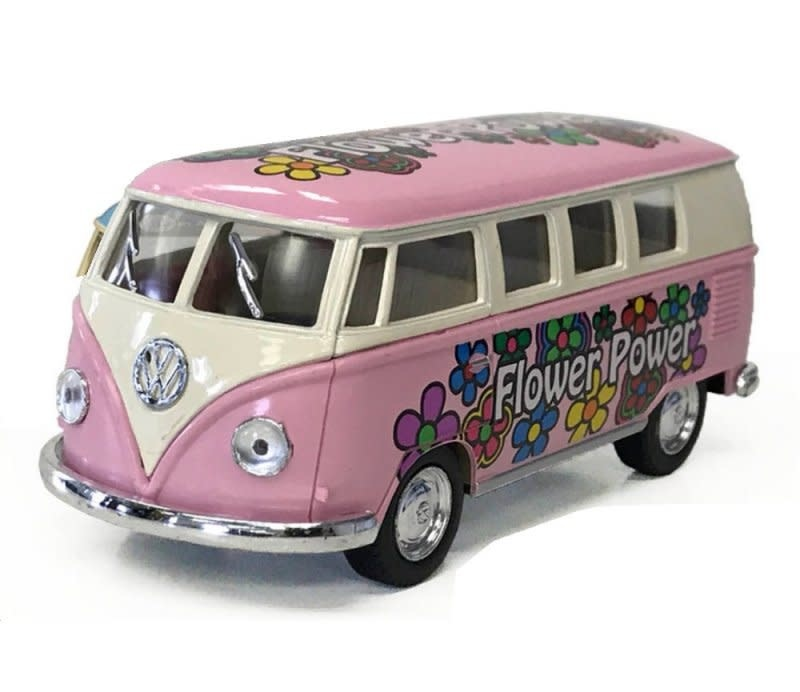 """Kinsmart 1962 VW Bus Flower Power Pastel 5"""""""