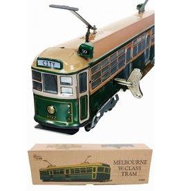 Tin Toy Arcade Train Tram Melbourne Australia Green Tin Toy