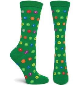 MTA Subway Dots Womens Green Sock