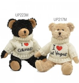 "Unipak Designs Corp I Love Maine Sweater Bear 8"""