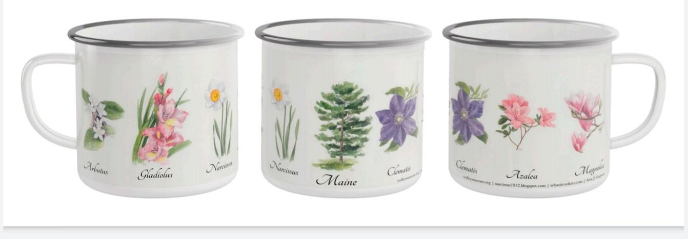 Narcissus Enameled Camp Coffe Mug