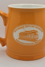 American Crystal Tankard Mug Salmon Orange