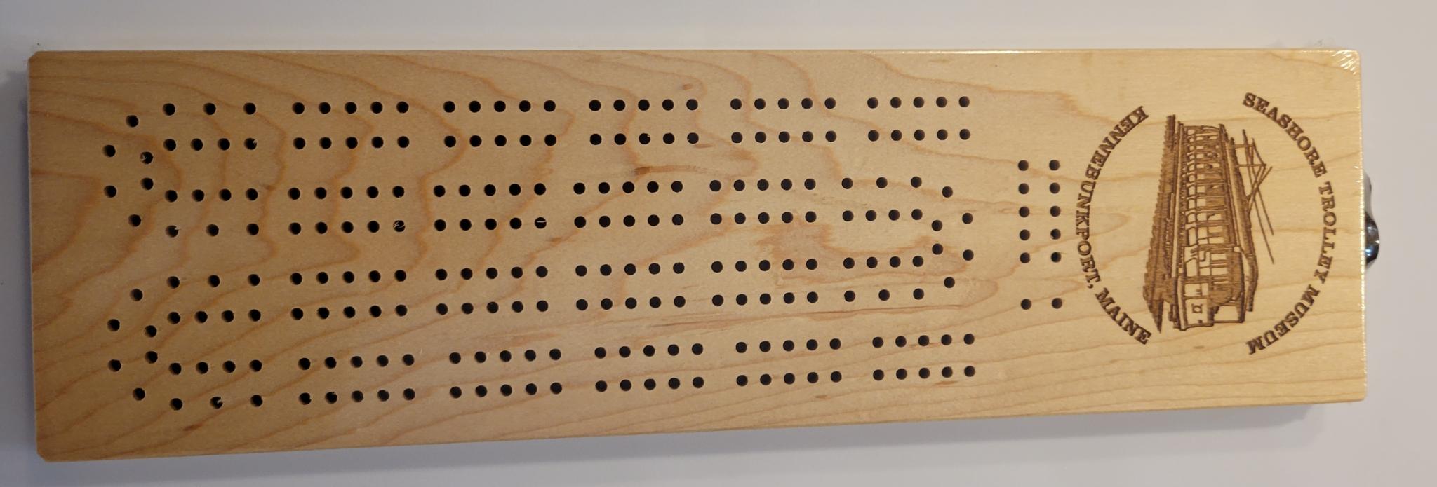 Custom Engraved STM Cribbage Board