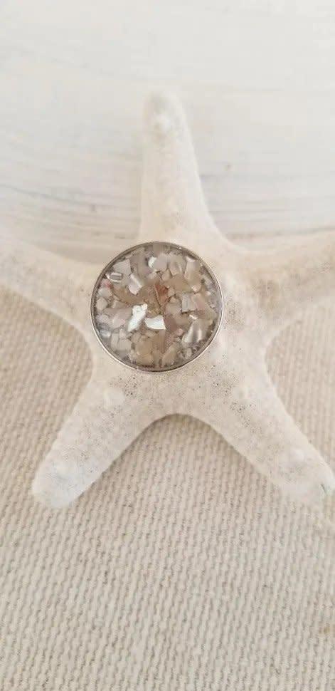 Maine Shellware Interchangeable Spoon Snap Bracelet (Seashell)