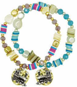 Born Rail Products Mother of Pearl stretch bracelet